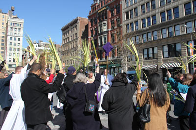 Palm Sunday in Union Square